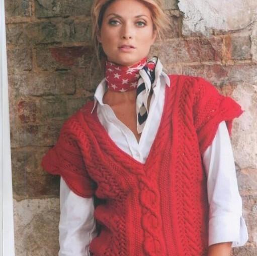 Вязание безрукавки для женщины 124