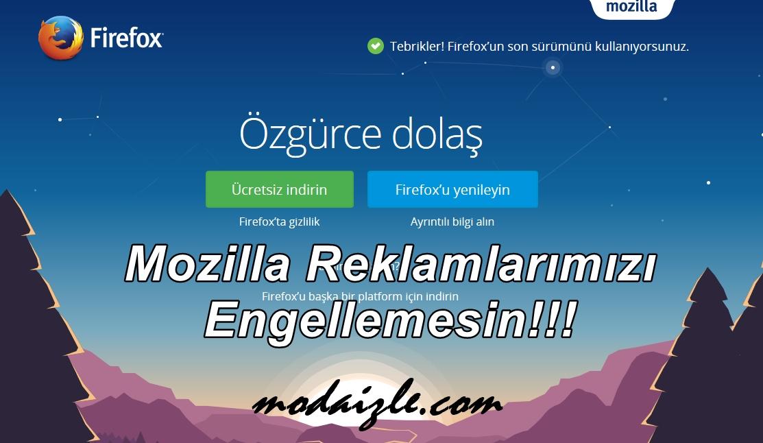 Mozilla / Firefox Adsense ve Reklamlar Gözükmüyor Çözümü