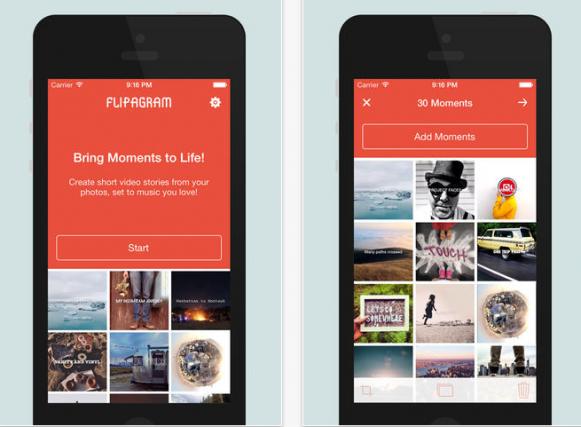 Flipagram ile instagram için resimlerden video yapın