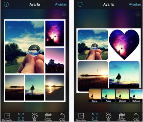PicFrame ile kolajlar hazırlayın