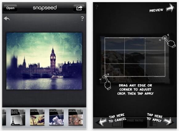 Snapseed resim değiştirme